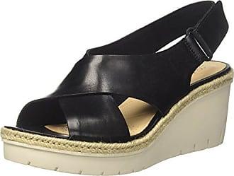 261259024, Sandalias Mujer, Negro (Black Leather), 42 EU Clarks