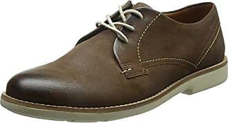 Clarks Hinton Fly - Zapato brogue de cuero hombre, color verde, talla 44