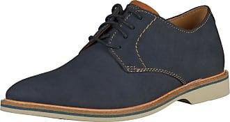 Clarks Atticus Bas Chaussures Habillées En Dentelle Bleu 2sblx