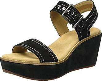 Vendra Bloom, Sandalias con Cuña para Mujer, Azul (Navy Leather), 39.5 EU Clarks