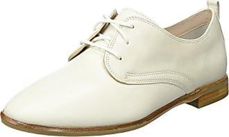 Clarks Alania Posey, Derby Femme, Blanc (White Leather), 41 EU
