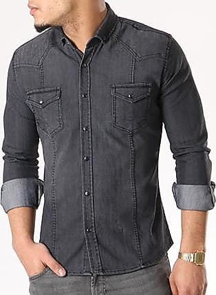 Boland Washed, Chemise Casual Homme, Grau (Charcoal Grey 9079), 44Timezone