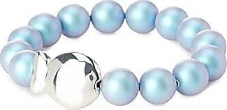 Clio Blue Large iridescent pearl bracelet 0y2OgwE6t