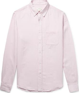 120% CASHMERE Button-down Collar Linen Shirt - Pink