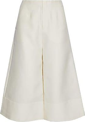 Co Woman Wool, Cotton, Silk And Cashmere-blend Culottes Ivory Size M Co