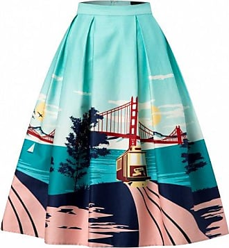 50s Marilu San Francisco Swing Skirt in Turquoise Collectif