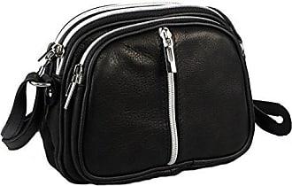 Echt Leder Crossbody Umhängetasche, modisch und hochwertig, Markenprodukt aus Italien (braun) Collezione Alessandro
