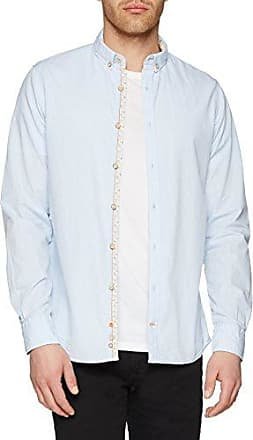 Basic-Story, Chemise Casual Homme, Blau (Swimming Pool 0101), 38Colours & Sons