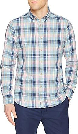Fred, Chemise Casual Homme, Bleu (Sky Linen), MColours & Sons