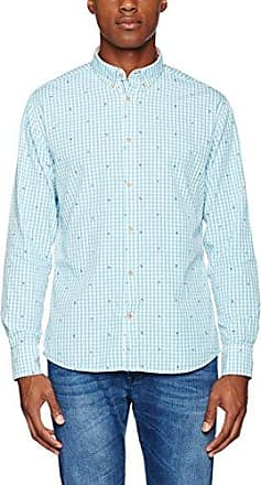 Michael, Camisa para Hombre, Multicolor (Fish Print), M Colours & Sons