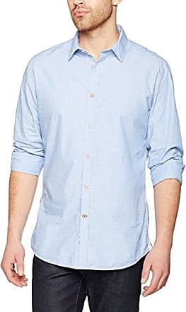 John, Chemise Casual Homme, Blanc (White), MColours & Sons