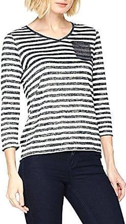 Comma Ci 88.804.33.8710, Camiseta para Mujer, Multicolor (White Stripes 01G6), 38