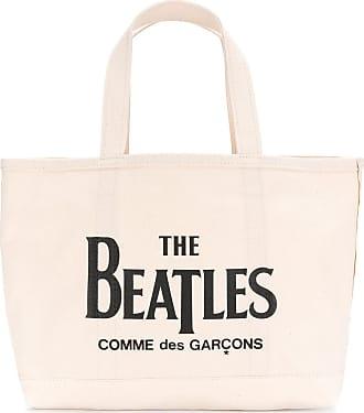 Comme Des Garçons Slogan Tote Bag - Nude & Neutrals Collections De Vente À Bas Prix Jeu Dernier ywFmZ7Xa