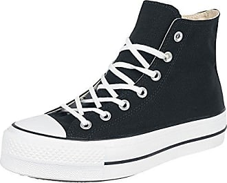 Converse Chuck Taylor CTAS Hi Nubuck, Chaussures de Fitness Femme, Noir (Black/Silver/White 001), 37 EU