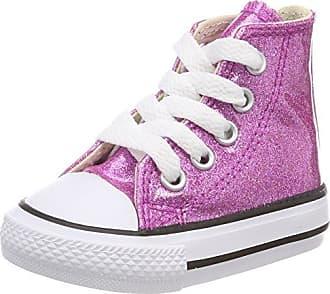 Converse Chuck Taylor CTAS 2V Ox Synthetic, Zapatillas de Estar por Casa Bebé Unisex, Morado (Bright Violet/Natural/White 502), 18 EU
