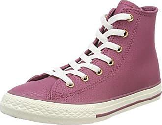 Converse Unisex-Kinder CTAS Hi Bright Violet/Natural/White Hohe Sneaker, Pink (Bright Violet/Natural/White), 19 EU