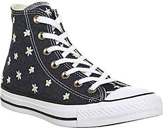 Damen CTAS Hi Sneakers, Blau (Navy/Fresh Yellow/White), 35 EU Converse