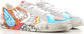 Sneaker für Damen, Tennisschuh, Turnschuh Günstig im Sale, Schmutziges Weiss, Leder, 2017, 36 Converse