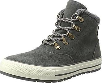 Converse Chuck Taylor CTAS Hi Synthetic, Chaussures de Fitness Mixte Adulte, Gris (Ash Grey/Black/White), 46 EU