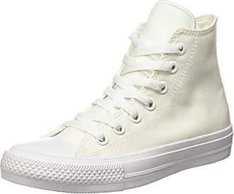 Chaussures De Sport Converse Chuck Converse All Star Taylor Ii C150148, Chaussures De Sport Pour Les Adultes (unisexe), Blanc (blanc / Blanc / Bleu Marine), 43 Eu