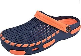 Unisex Slip On Damen Clogs Schuhe Dusche Beach Herren Pantoletten, Schwarz - schwarz - Größe: 41.5 Coolers