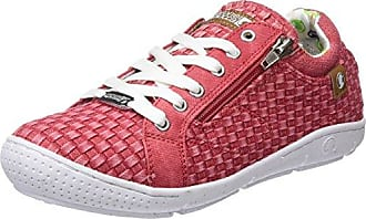 Faible Tissu Chaussures, Conception De Rayures, Rouge (rouge), 36