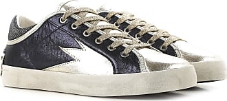 Sneakers for Women On Sale, Metallic Blue, Leather, 2017, 3.5 4.5 5.5 7.5 8.5 Crime London