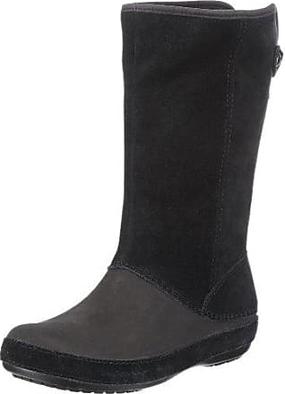 Crocband II.5 Winter Boot, Mujer Bota, Negro (Black/Smoke), 34-35 EU Crocs