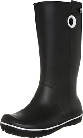crocs Wellie Polka Dot Print Boot 15374-05J-420, Damen Stiefel, Grau (Smoke/Black), EU 36-37 (W6)