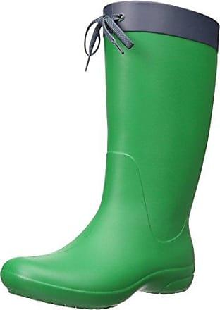crocs RainFloe 12424-34A-420 Damen Gummistiefel, Grün (Kelly Green/Kelly Green 34A), EU 36/37