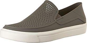 Crocs Citilane Roka - Zapatos para hombre sin cordones , Gris (Smoke/white) , 42/43 EU