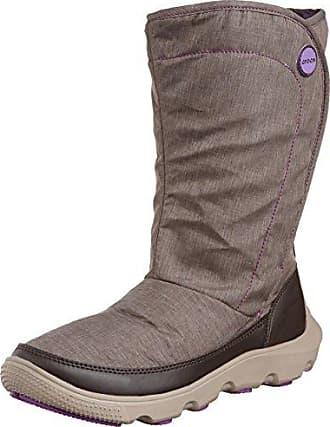 Crocs AllCast Waterproof Duck Boot Women, Femme Bottes, Marron (Espresso/Red), 34-35 EU