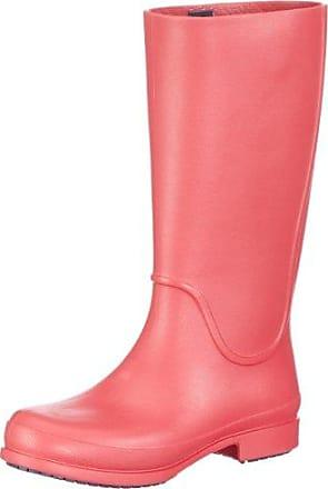 Wellie Polka Dot Boot W, Boots femme, Rose (Fuchsia/Ultraviolet), EU 36-37 (W6)Crocs