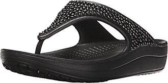 crocs Damen Swiftwater Flip Women Zehentrenner, Schwarz (Black/White 066), 36/37 EU