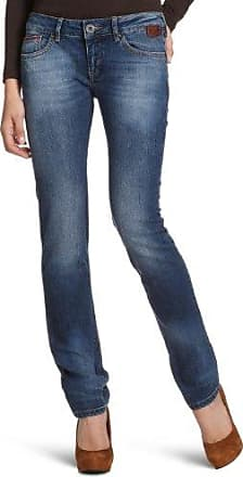 Cross Vaqueros tapered para mujer, talla W30/L32 (30), color azul (washy blue used destroyed 013)