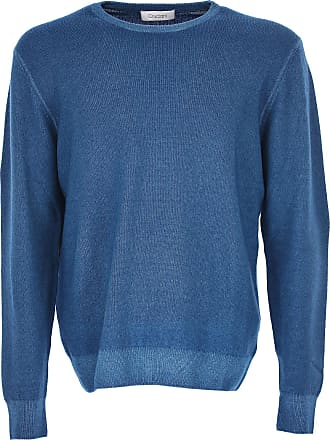 Sweater for Men Jumper On Sale, Avio Blue Melange, Wool, 2017, L S Cruciani