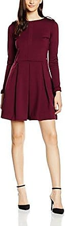 Womens Vestido Tablas Burdeos Dress Cuplé Clearance Outlet hVkWw