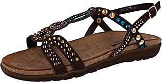 Cushion Walk Lifestyle Damen Sandalen, Schwarz - Schwarz - Größe: 42