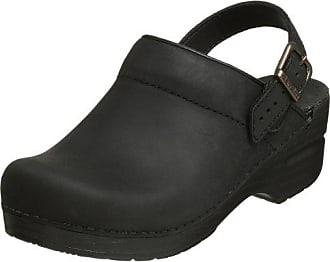 dansko PROTOOL Clogs-Leder, Black Oiled Leather, 42 EU / 9 UK / 11.5-12 US