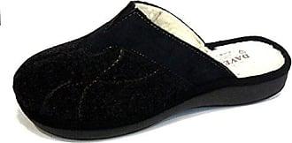Damen Hausschuhe Schwarz Schwarz, Schwarz - Schwarz - Größe: 37 EU Davema