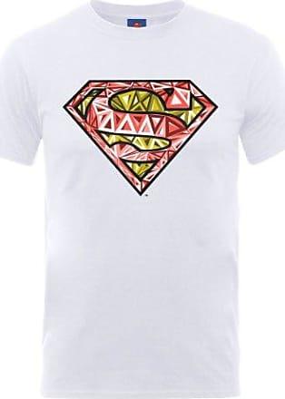 Camiseta Manga Corta Superman Stencil Blanco 2XL DC Comics HEkIekCN