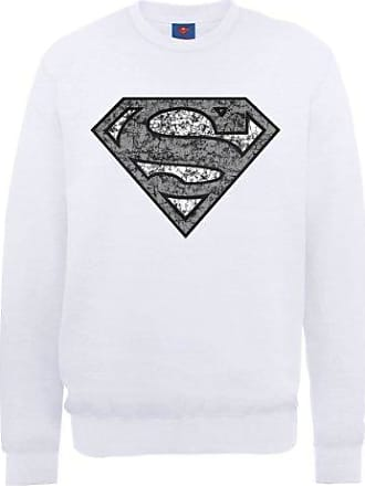 Mens DC0000896 DC Comics Official Superman Engraving Logo Crew Neck Long Sleeve Sweatshirt DC Comics Clearance Explore qiwzfmpeC