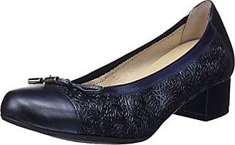 2726 Perla, Zapatos de Tacón con Punta Cerrada para Mujer, Azul (River), 36 EU D'Chicas