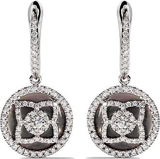 De Beers 18kt white gold Enchanted Lotus openwork diamond stud earrings - Unavailable 166Dgl