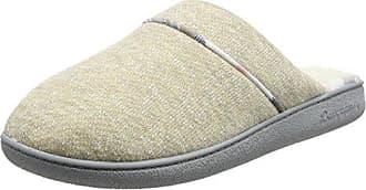 Dearfoams Textured Knit Closed Toe Scuff, Zapatillas de Estar por Casa para Mujer, Turquesa (Cabernet 10604), 38/39 EU