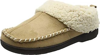Dearfoams Microsuede Clog with Whipstitch and Memory Foam - Zapatillas Bajas para Mujer, Color Marrón (Espresso 00205), Talla 38-39 EU (5-6 UK)