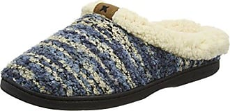 Dearfoams Space-Dye Boucle Clog with Memory Foam - Zapatillas Bajas para Mujer, Color Azul (Azul 00400), Talla 36-37 EU (3-4 UK)