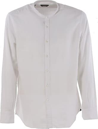 Camisa de Hombre Baratos en Rebajas, Blanco, Algodon, 2017, 38 41 42 43 44 Del Siena