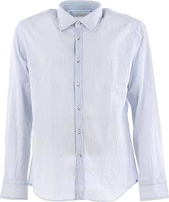 Camisa de Hombre Baratos en Rebajas Outlet, Celeste, Algodon, 2017, 38 Del Siena