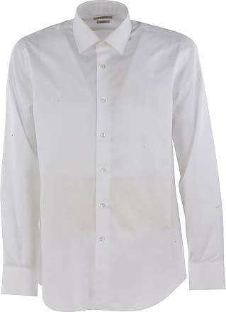 Camisa de Hombre Baratos en Rebajas, Blanco, Algodon, 2017, 39 41 43 Del Siena